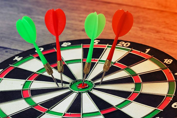 how to set up a dartboard at home