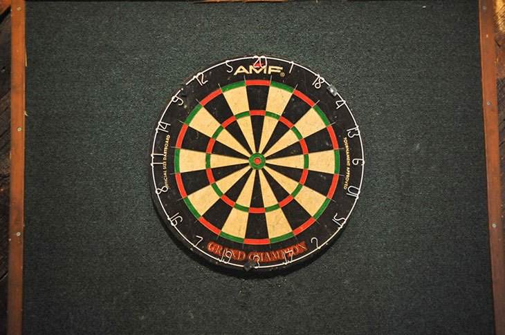how to set up a dartboard on a wall