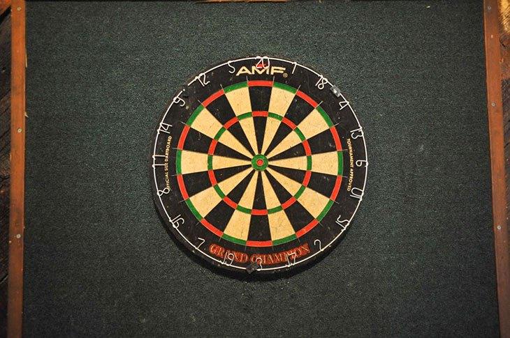how to set up a dartboard on a wall