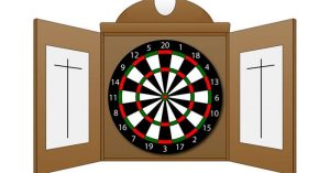 How to set up a dart board